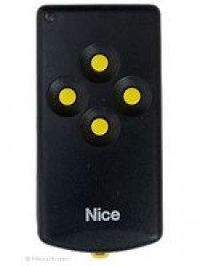 Handsender Nice K4M/D, 4 Tasten, 27,120 MHz, wird ersetzt durch Handsender HR RQ2640F, lernfähig, 4 Tasten, 27,120 MHz AM